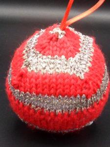 Boule de Noël bicolore