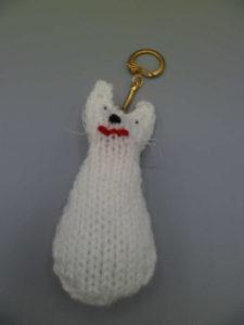 porte-clé tricoté main
