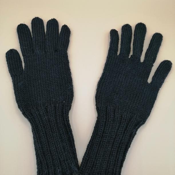 gants noir en laine