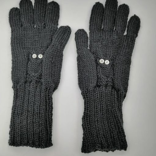 gants noirs avec chouette