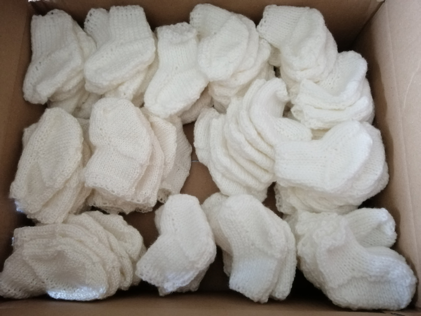 chaussons blancs 1er âge